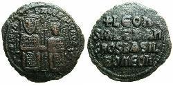 $20000 Follis Byzantinisches Reich (330-1453) Bronze Leo VI Wise (866-912)