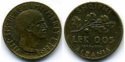 0,05 Lek Albanian Kingdom (1939-1943) Bronze/Aluminium Victor Emmanuel III of Italy (1869 - 1947)