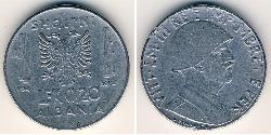 0.2 Lek Albanian Kingdom (1939-1943) Steel Victor Emmanuel III of Italy (1869 - 1947)