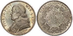 0 Zecchino Stato Pontificio (752-1870) Argento Papa Pio IX (1792- 1878)