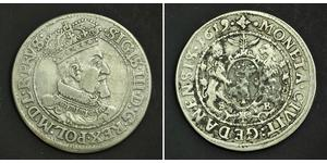 1\/4 Thaler República de las Dos Naciones (1569-1795) Plata Sigismund III