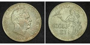 100000 Leu Royaume de Roumanie (1881-1947) Argent Michel Ier de Roumanie