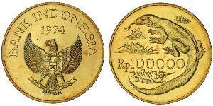 100000 Rupiah Indonesia Gold