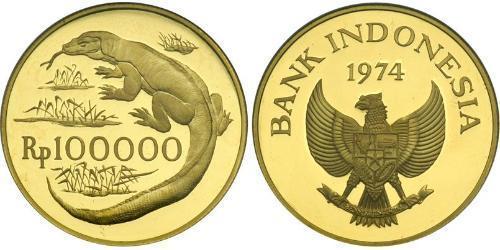 100000 Rupiah Indonesien Gold