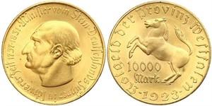 10000 Марка Германия Латунь