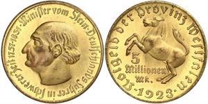 10000 Марка Німеччина Латунь
