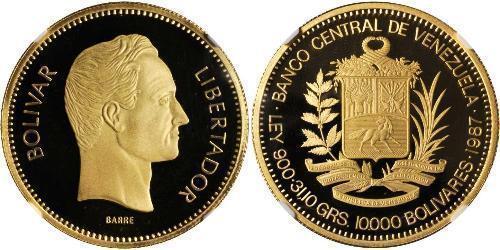 10000 Bolivar Venezuela Or Simon Bolivar (1783 - 1830)