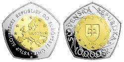 10000 Krone Slovacchia Oro/Palladium