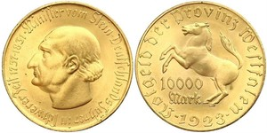 10000 Mark 德国 黃銅