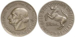 10000 Mark Alemania Latón