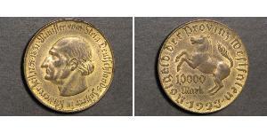 10000 Mark Deutschland Messing