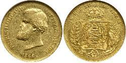 10000 Reis Empire of Brazil (1822-1889) Gold