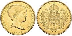10000 Reis Imperio del Brasil (1822-1889) Oro Pedro II de Brasil (1825 - 1891)
