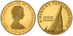 1000 Долар Багамські о-ви Золото Єлизавета II (1926-)