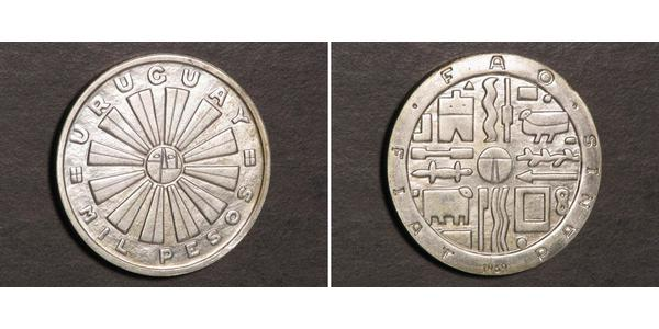 1000 Песо Уругвай Срібло