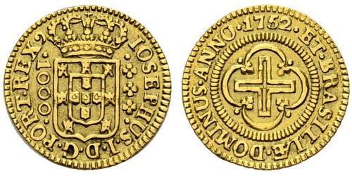 1000 Рейс Королевство Португалия (1139-1910) Золото Joseph I of Portugal (1714-1777)