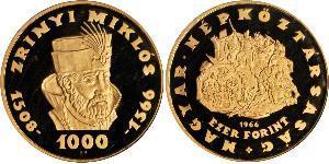 1000 Форинт Венгрия Золото