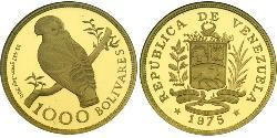 1000 Bolivar Venezuela Gold