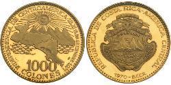 1000 Colon Costa Rica Oro