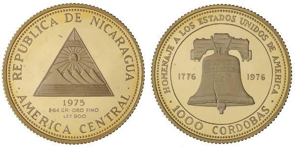 1000 Cordoba Nicaragua Gold