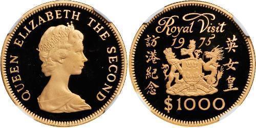 1000 Dólar Hong Kong Oro Isabel II (1926-)