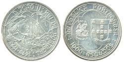 1000 Escudo Portugal Silver