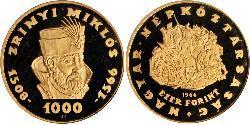 1000 Forint Hungría Oro