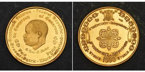 1000 Franc Camerún Oro