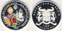 1000 Franc Benin Silber