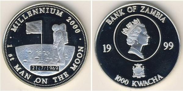 1000 Kwacha Zambia (1964 - ) Plata
