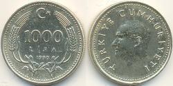 1000 Lira Türkei (1923 - ) Messing