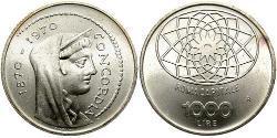 1000 Lira Italien Silber