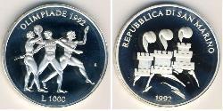 1000 Lira San Marino Silver
