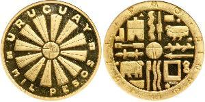 1000 Peso Uruguay Gold