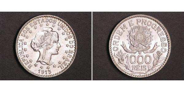 1000 Reis 巴西 銀
