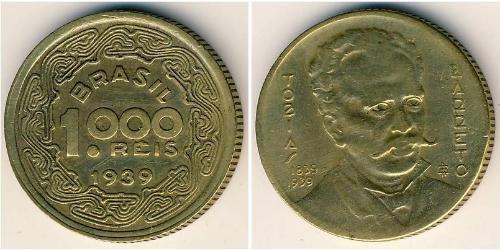1000 Reis Brasile Alluminio/Bronzo