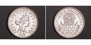 1000 Reis Brasile Argento