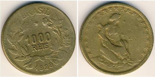 1000 Reis Brazil Bronze/Aluminium