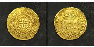 1000 Reis Kingdom of Portugal (1139-1910) Gold Joseph I of Portugal (1714-1777)