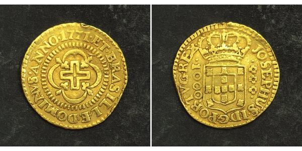 1000 Reis Kingdom of Portugal (1139-1910) Gold Joseph I of Portugal (1714-1777)