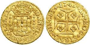 1000 Reis Royaume de Portugal (1139-1910) Or Jean V de Portugal (1689-1750)