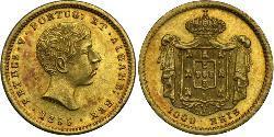 1000 Reis Portogallo / Regno del Portogallo (1139-1910) Oro Peter V of Portugal (1837-1861)