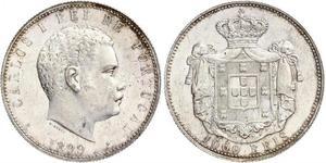 1000 Reis Reino de Portugal (1139-1910) Plata Carlos I de Portugal (1863-1908)