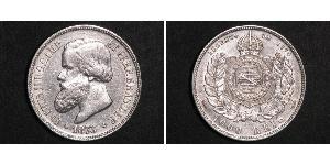 1000 Reis Brasilien Silber