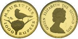 1000 Rupee Mauritius Gold Elizabeth II (1926-)