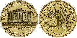1000 Shilling Republic of Austria (1955 - ) Gold