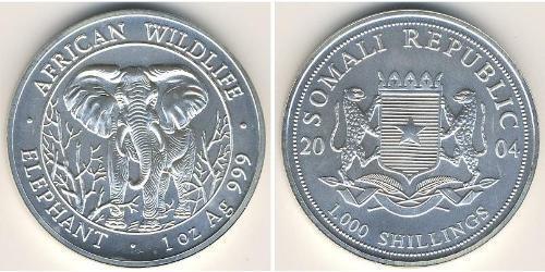 1000 Shilling Somalia Plata