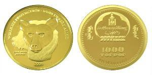 1000 Tugrik Mongolia Gold