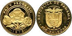 100 Бальбоа Панама Золото
