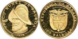 100 Бальбоа Панама Золото Бальбоа Васко Нуньєс (1475 – 1519)